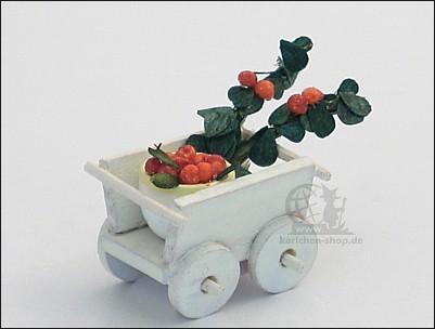 Handcart with cherries