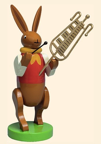 bunny musician with chimes